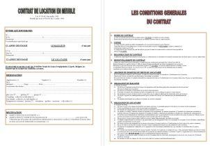 Contrat - condition Location en meuble