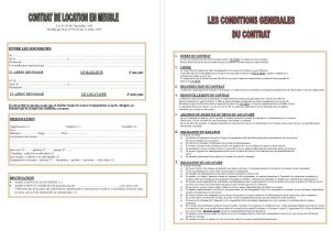 Contrat - condition Location en meuble